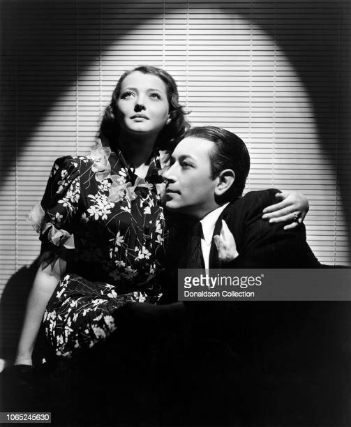"""Actress Sylvia Sidney and George Raft in a scene from the movie """"You and Me"""""""
