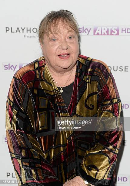 "Actress Sylvia Syms attends the launch party of ""Timeless"" a oneoff film as part of Sky Arts' Playhouse Presents season at The Courthouse Hotel on..."