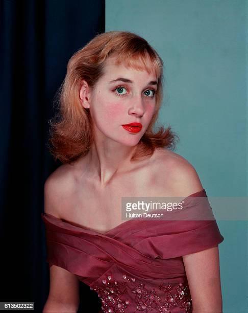 Actress Sylvia Syms ca 1955