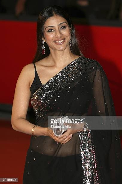 Actress Tabu attends the premiere of the movie The Namesake on the fourth day of Rome Film Festival on October 16 2006 in Rome Italy