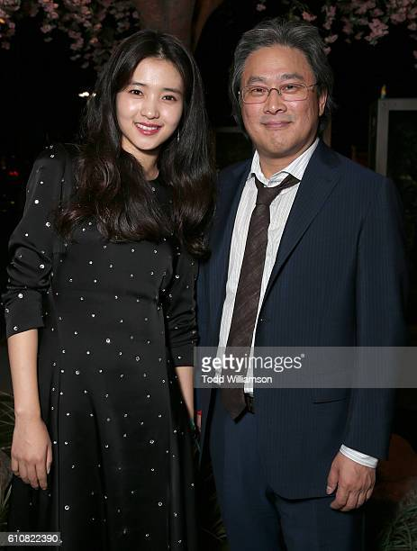Actress TaiRiKim and writer/director Park Chanwook attend Los Angeles Premiere of Amazon Studios' 'The Handmaiden' at ArcLight Hollywood on September...
