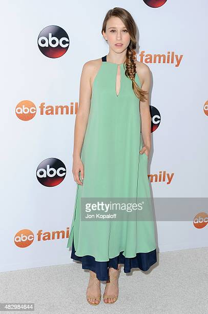Actress Taissa Farmiga arrives at Disney ABC Television Group's 2015 TCA Summer Press Tour at the Beverly Hilton Hotel on August 4 2015 in Beverly...