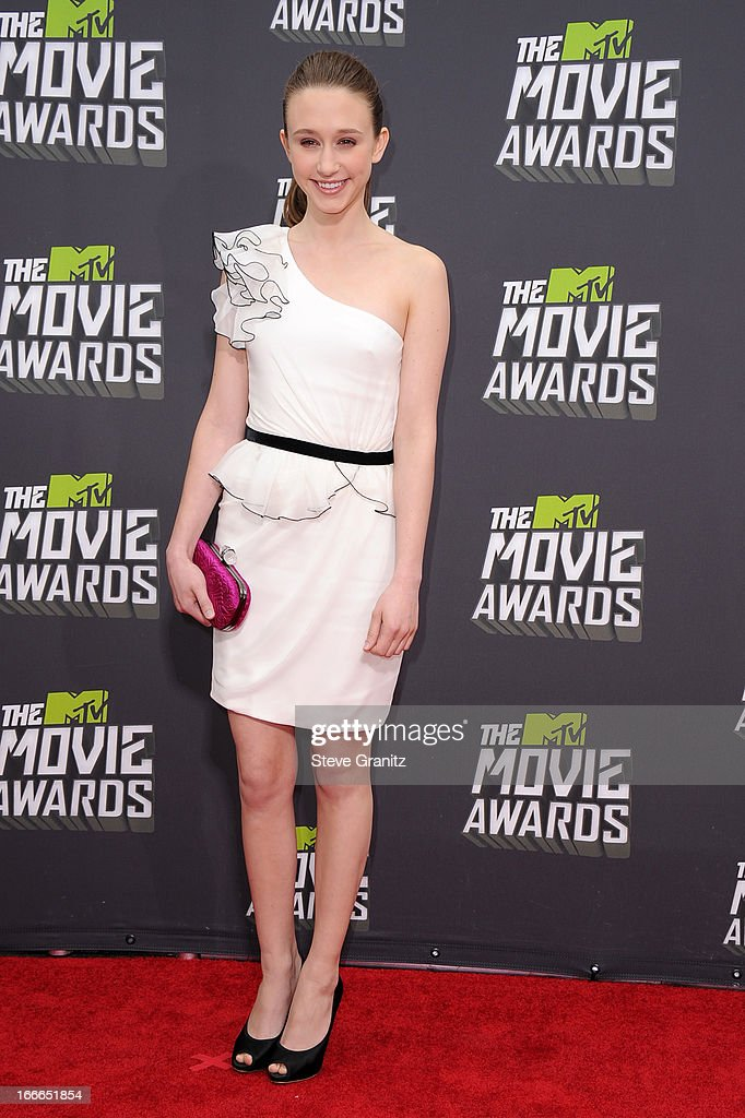 Actress Taissa Farmiga arrives at the 2013 MTV Movie Awards at Sony Pictures Studios on April 14, 2013 in Culver City, California.