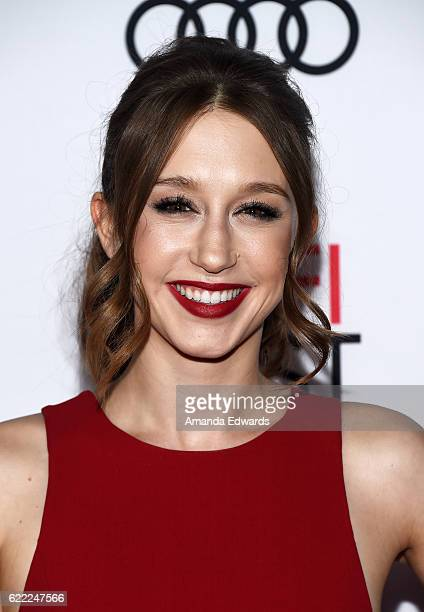 Actress Taissa Farmiga arrives at the AFI FEST 2016 Presented by Audi Opening Night Premiere of 20th Century Fox's 'Rules Don't Apply' at the TCL...
