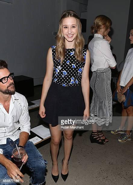 Actress Taissa Farmiga attends Thakoon during MercedesBenz Fashion Week Spring 2015 at on September 7 2014 in New York City