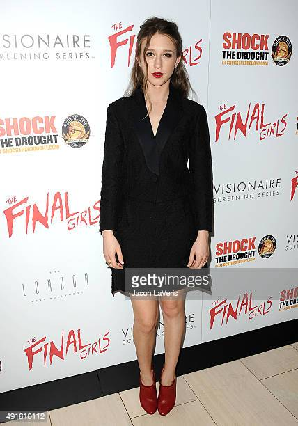 Actress Taissa Farmiga attends the premiere of 'The Final Girls' at The London Hotel on October 6 2015 in West Hollywood California