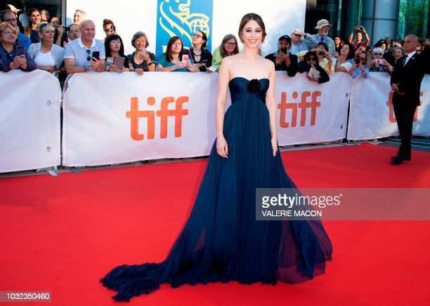 US actress Taissa Farmiga attends the Premiere of 'What They Had' during the Toronto International Film Festival on September 12 in Toronto Ontario...