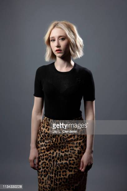 Actress Taissa Farmiga from 'The Twilight Zone' is photographed for Los Angeles Times on March 24 2019 during PaleyFest at the Dolby Theatre in...