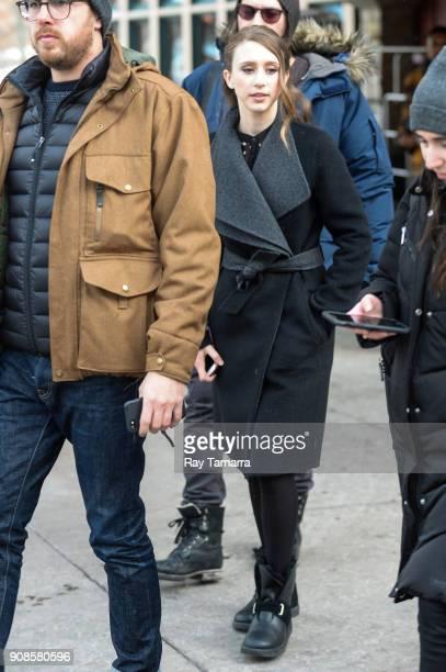 Actress Taissa Farmiga walks in Park City on January 21 2018 in Park City Utah