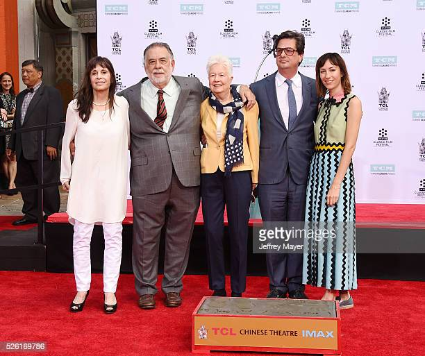Actress Talia Shire honoree/director Francis Ford Coppola directors Eleanor Coppola Roman Coppola and Gia Coppola attend his Hand and Footprint...