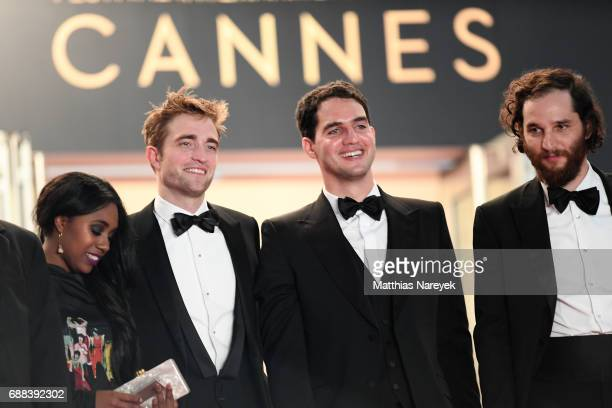 Actress Taliah Webster actor Robert Pattinson writer and codirector Ben Safdie and Codirector Joshua Safdie attend the 'Good Time' screening during...