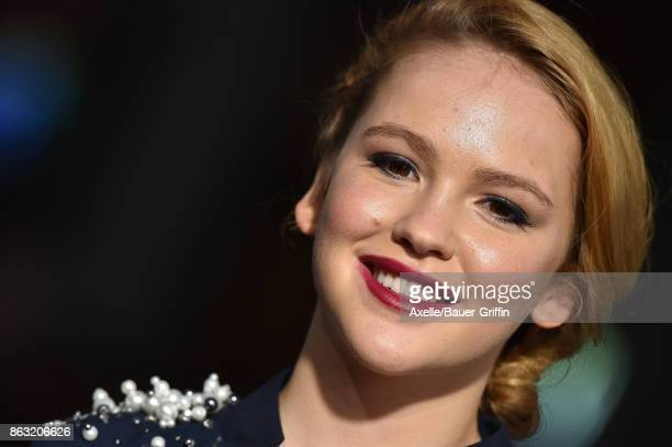 Actress Talitha Bateman arrives at the premiere of 'Geostorm' at TCL Chinese Theatre on October 16 2017 in Hollywood California