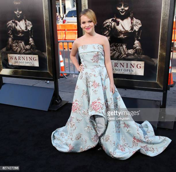 Actress Talitha Bateman attends the premiere of New Line Cinema's 'Annabelle Creation' at TCL Chinese Theatre on August 7 2017 in Hollywood California