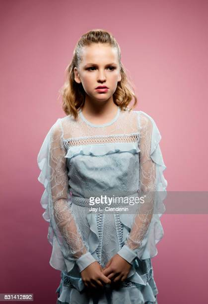 Actress Talitha Bateman from the film 'Annabelle Creation' is photographed in the LA Times photo studio at ComicCon 2017 in San Diego CA on July 20...