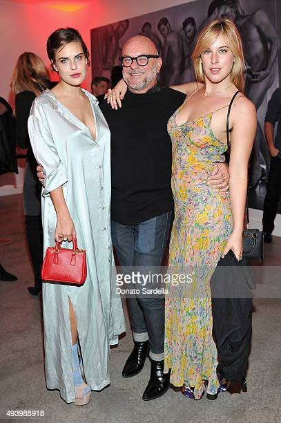 Actress Tallulah Belle Willis host Eric Buterbaugh and actress Scout LaRue Willis attend Brian Atwood's Celebration of PUMPED hosted by Melissa...
