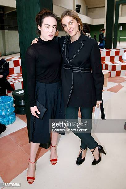 Actress Tallulah Harlech and Gaia Repossi attend the Celine show as part of the Paris Fashion Week Womenswear Fall/Winter 2015/2016 on March 8 2015...