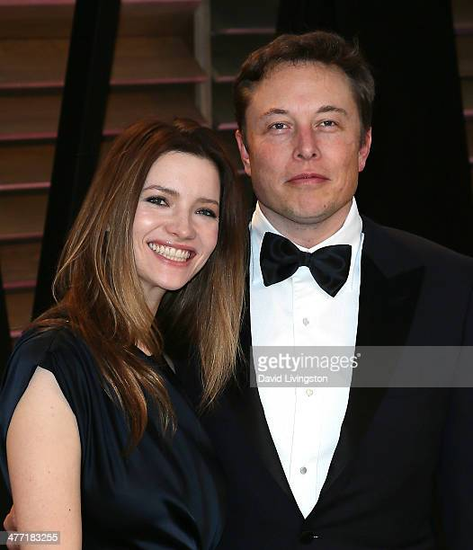Actress Talulah Riley and CEO of Tesla Motors Elon Musk attend the 2014 Vanity Fair Oscar Party hosted by Graydon Carter on March 2, 2014 in West...