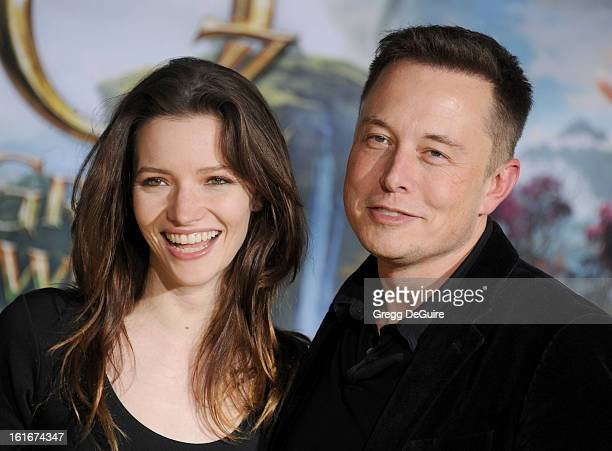 """Actress Talulah Riley and Elon Musk, co-founder of Paypal and Tesla Motors, arrive at the Los Angeles premiere of """"Oz The Great and Powerful"""" at the..."""