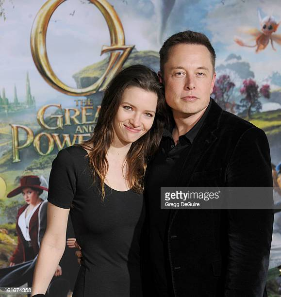 Actress Talulah Riley and Elon Musk cofounder of Paypal and Tesla Motors arrive at the Los Angeles premiere of Oz The Great and Powerful at the El...