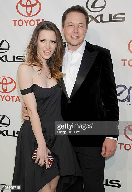 Actress Talulah Riley and entrepreneur Elon Musk arrive at the 2012 Environmental Media Awards at Warner Bros. Studios on September 29, 2012 in...
