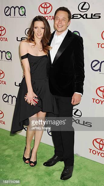 Actress Talulah Riley and entrepreneur/inventor Elon Musk arrive at the 2012 Environmental Media Awards at Warner Bros. Studios on September 29, 2012...