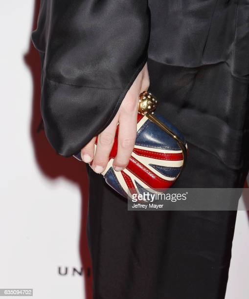 Actress Talulah Riley, handbag detail, at the Universal Music Group's 2017 GRAMMY After Party at The Theatre at Ace Hotel on February 12, 2017 in Los...