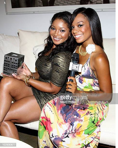 Actress Tamala Jones and Amber Deylom attend the Amica Style Trunk Show With Fake Bake And The Luxe Beauty Team on July 15 2010 in Los Angeles...