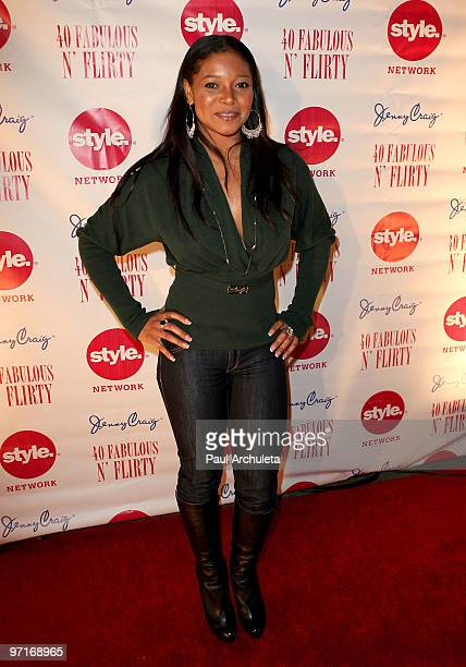 Actress Tamala Jones arrives at Niecy Nash's '40 Fabulous N� Flirty' Birthday Party at The Kress on February 27 2010 in Hollywood California