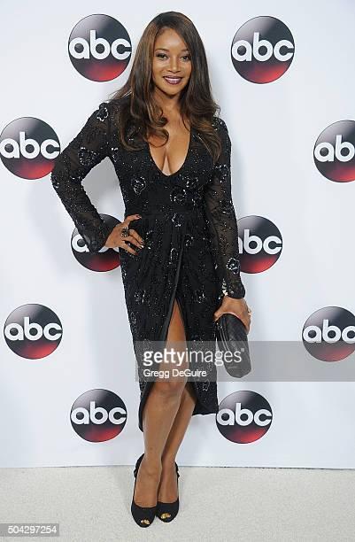 Actress Tamala Jones arrives at the 2016 Winter TCA Tour Disney/ABC at Langham Hotel on January 9 2016 in Pasadena California