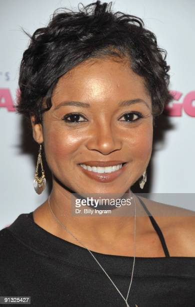 """Actress Tamala Jones arrives at the Los Angeles premiere of """"Good Hair"""" at the Majestic Crest Theatre on October 1, 2009 in Los Angeles, California."""
