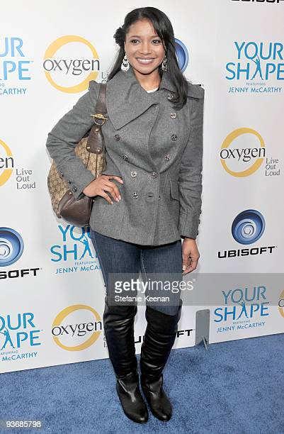 Actress Tamala Jones arrives at the Ubisoft and Oxygen YOUR SHAPE fitness game launch party at Hyde Lounge on December 2 2009 in West Hollywood...