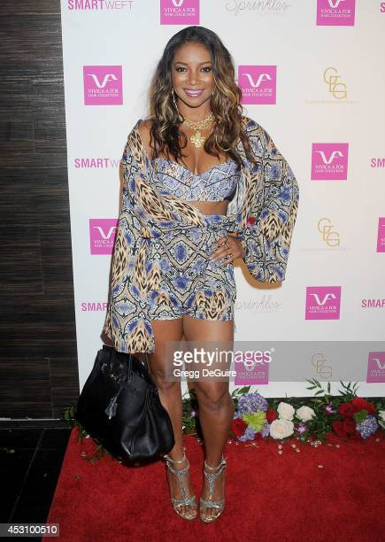 Actress Tamala Jones arrives at the Vivica A. Fox 50th Birthday party at Philippe Chow on August 2, 2014 in Beverly Hills, California.