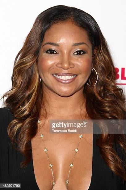Actress Tamala Jones attends the Lifetime Television's 'Megachurch Murder' premiere screening held at the Harmony Gold Theatre on January 29 2015 in...