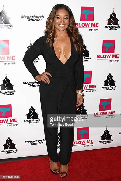 """Actress Tamala Jones attends the Lifetime Television's """"Megachurch Murder"""" premiere screening held at the Harmony Gold Theatre on January 29, 2015 in..."""