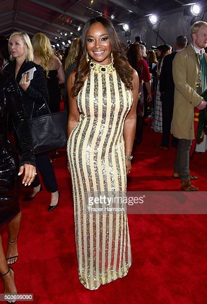 Actress Tamala Jones attends the People's Choice Awards 2016 at Microsoft Theater on January 6 2016 in Los Angeles California