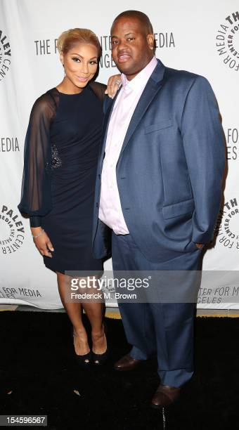 Actress Tamar Braxton and producer/actor Vince Herbert attend The Paley Center for Media's Annual Los Angeles Benefit at The Rooftop Of The Lot on...