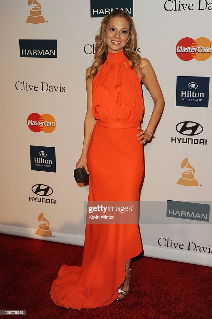 Actress Tamara Braun arrives at Clive Davis and the Recording Academy's 2012 Pre-GRAMMY Gala and Salute to Industry Icons Honoring Richard Branson held at The Beverly Hilton Hotel on February 11, 2012 in Beverly Hills, California.