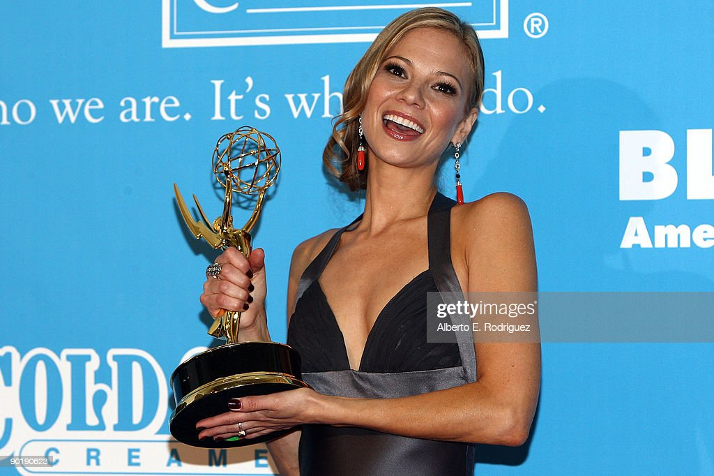 Actress Tamara Braun poses in the press room during the 36th Annual Daytime Emmy Awards at The Orpheum Theatre on August 30, 2009 in Los Angeles, California.