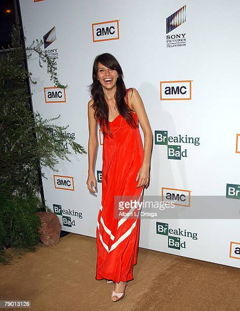 Actress Tamara Feldman arrives at the Premiere Screening of AMC's new Sony Pictures' Television drama Breaking Bad held on January 15 2008 at The...