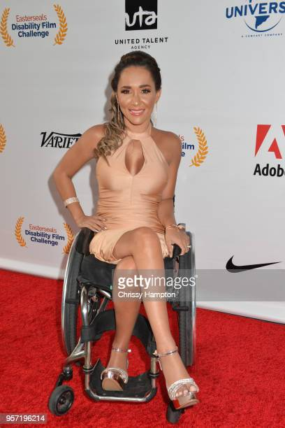 Actress Tamara Mena arrives on the red carpet of United Talent Agency's 5th Annual Easterseals Disability Film Challenge Awards Ceremony at United...