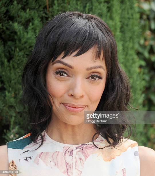 Actress Tamara Taylor arrives at The Rape Foundation's Annual Brunch at Ron Burkle's Green Acres Estate on September 28 2014 in Beverly Hills...