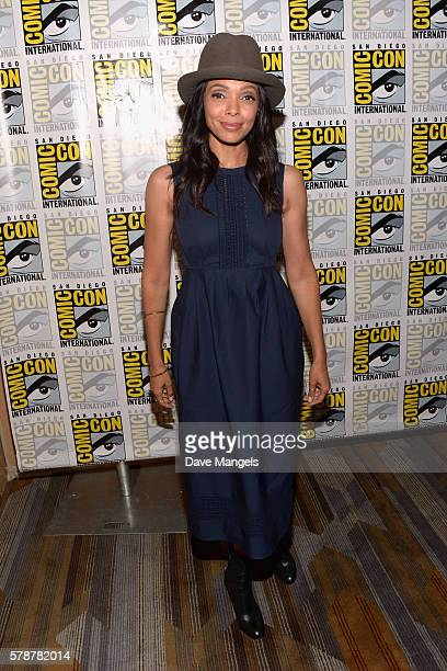 "Actress Tamara Taylor attends Comic-Con International 2016 ""Bones"" press line at Hilton Bayfront on July 22, 2016 in San Diego, California."