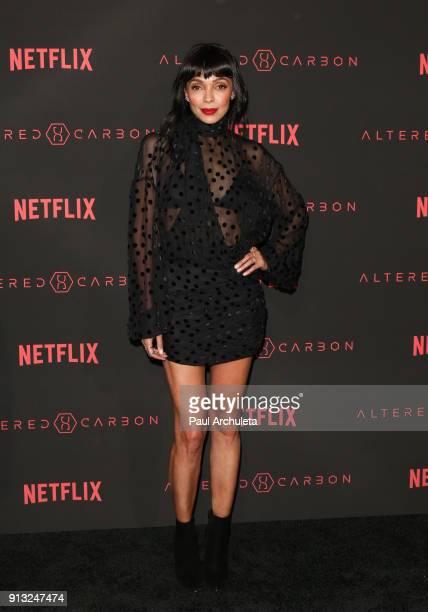 Actress Tamara Taylor attends Netflix's 'Altered Carbon' season 1 premiere at Mack Sennett Studios on February 1 2018 in Los Angeles California