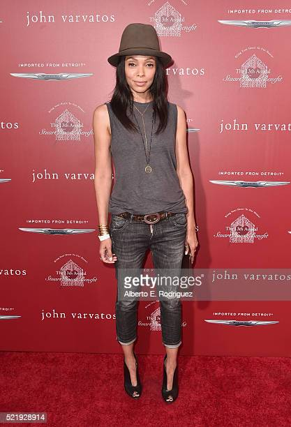 Actress Tamara Taylor attends the John Varvatos 13th Annual Stuart House benefit presented by Chrysler with Kids' Tent by Hasbro Studios at John...