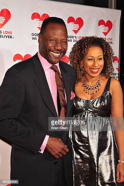 Actress Tamara Tunie and husband Gregory Generet attend the 2009 Golden Heart awards at the IAC Building on October 19, 2009 in New York City.