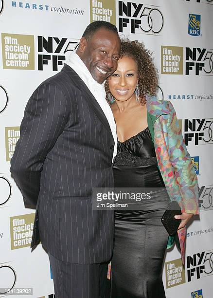 Actress Tamara Tunie and husband Gregory Generet attend the closing night gala screening of Flight during the 50th New York Film Festival at Alice...