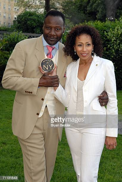 Actress Tamara Tunie and husband Gregory Generet attend the Made In NY Awards for outstanding achievement in entertainment June 5 2006 in New York...
