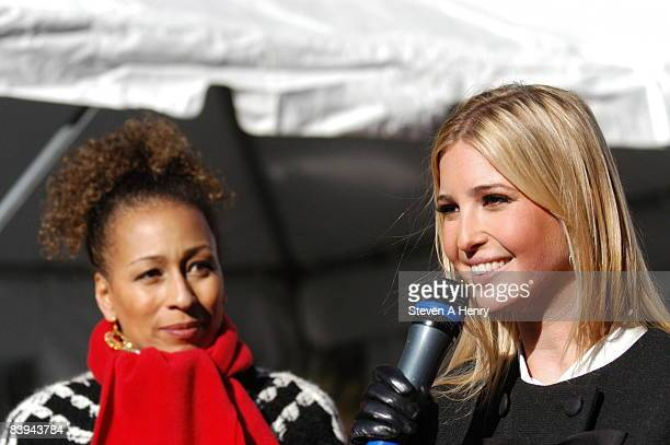 Actress Tamara Tunie and Ivanka Trump attend the Children's Aid Society's 2008 Miracle on Madison Avenue at 69th Street on December 7 2008 in New...