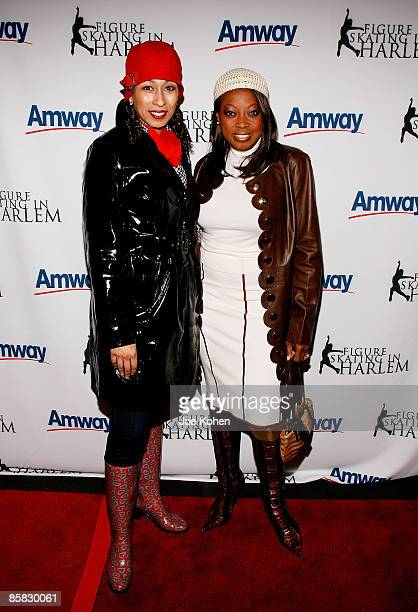 Actress Tamara Tunie and TV Personality Star Jones attend the 2009 Skating with the Stars at Wollman Rink in Central Park on April 6 2009 in New York...