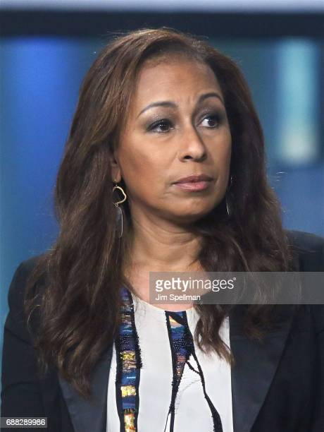 """Actress Tamara Tunie attends Build to discuss """"Building The Wall"""" at Build Studio on May 25, 2017 in New York City."""